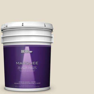 5 gal. #MQ3-40 Varnished Ivory Eggshell Enamel One-Coat Hide Interior Paint and Primer in One