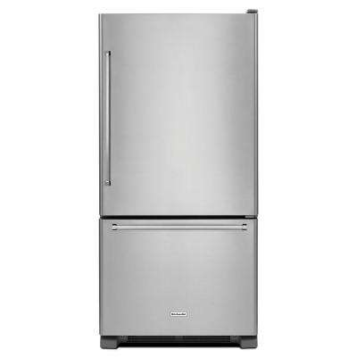 30 in. W 19 cu. ft. Bottom Freezer Refrigerator in Stainless Steel