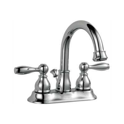 Mandouri 4 in. Centerset 2-Handle High-Arc Bathroom Faucet in Chrome