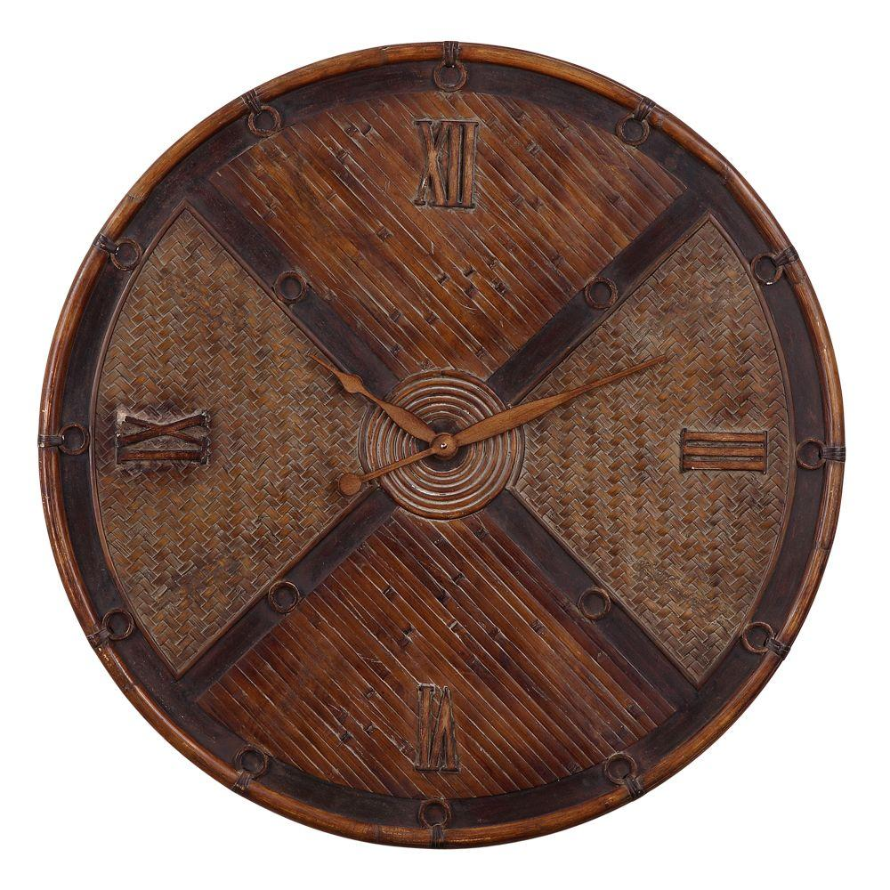 Global Direct 31-1/2 in .Bamboo Round Wall Clock-DISCONTINUED