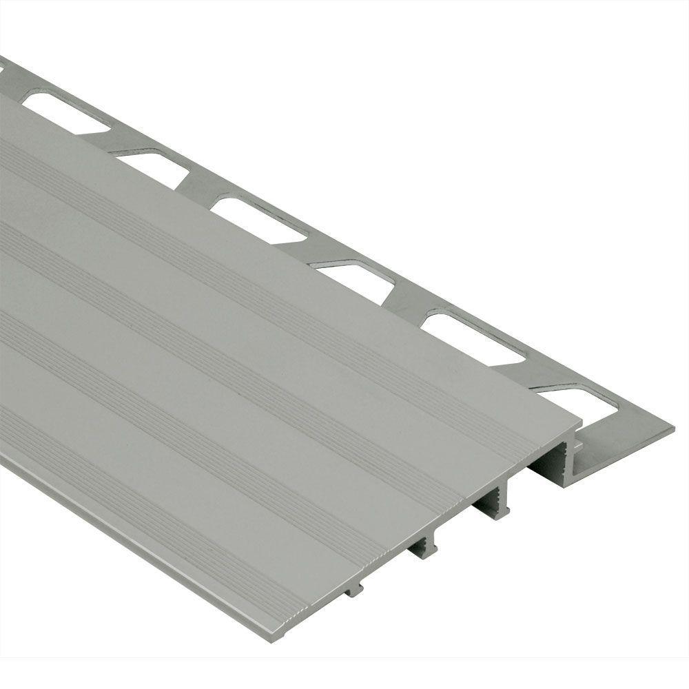 Schluter Reno Ramp Satin Anodized Aluminum 38 In X 8 Ft 2 12 In