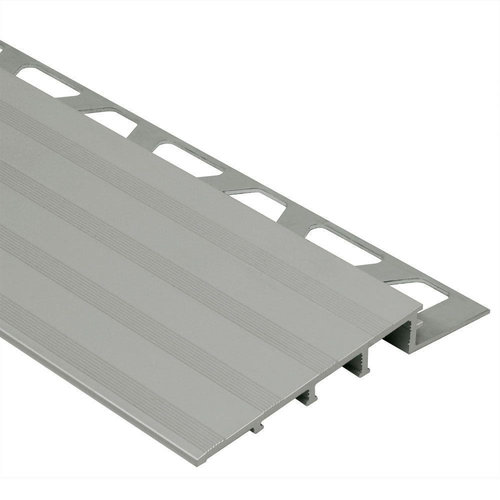 Reno-Ramp Satin Anodized Aluminum 1/2 in. x 8 ft. 2-1/2 in.