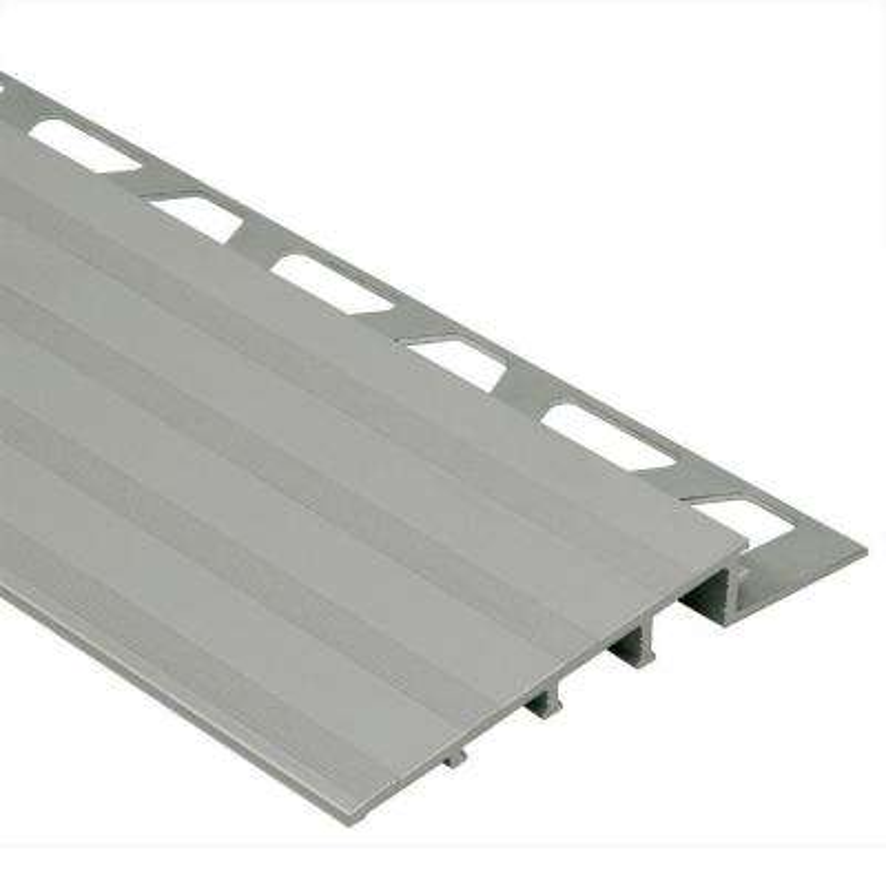 Reno-Ramp Satin Anodized Aluminum 3/4 in. x 8 ft. 2-1/2 in. Metal Reducer Tile Edging Trim