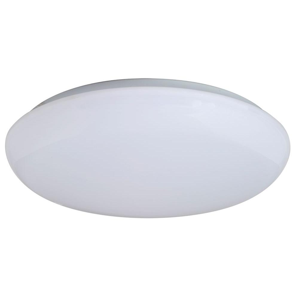 amax lighting 11 in warm white mushroom indoor led flush mount led r001l w the home depot. Black Bedroom Furniture Sets. Home Design Ideas