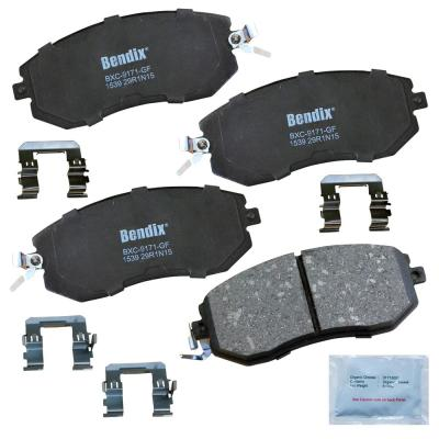 with Installation Hardware Front Bendix Premium Copper Free CFC1184 Premium Copper Free Ceramic Brake Pad