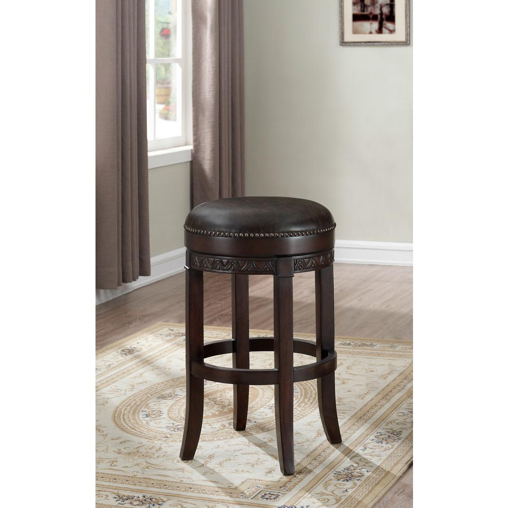 American Heritage Billiards Portofino 26 In. Sierra Swivel Cushioned Bar  Stool