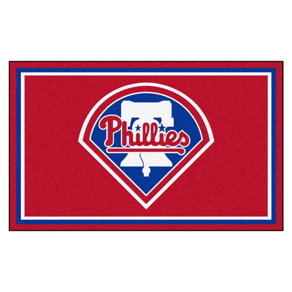 Philadelphia Phillies 4 ft. x 6 ft. Area Rug