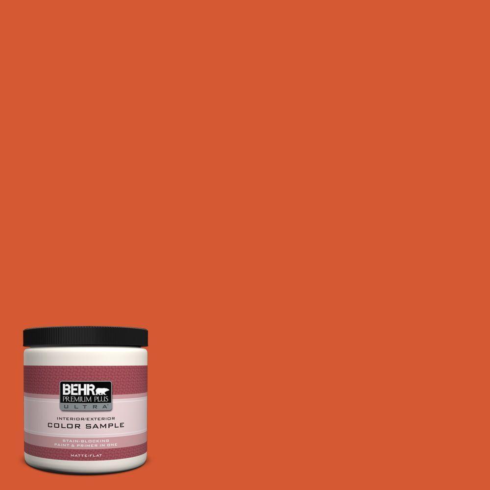 BEHR Premium Plus Ultra 8 oz. #S-G-220 Sweet Mandarin Interior/Exterior Paint Sample
