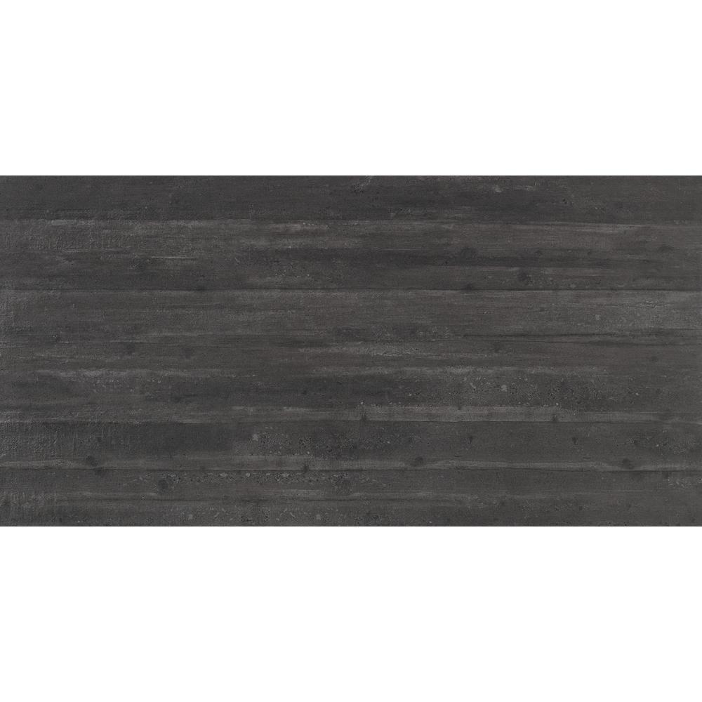 Cassero Black Matte 11.81 in. x 23.62 in. Porcelain Floor and Wall Tile (15.504 sq. ft. / case)