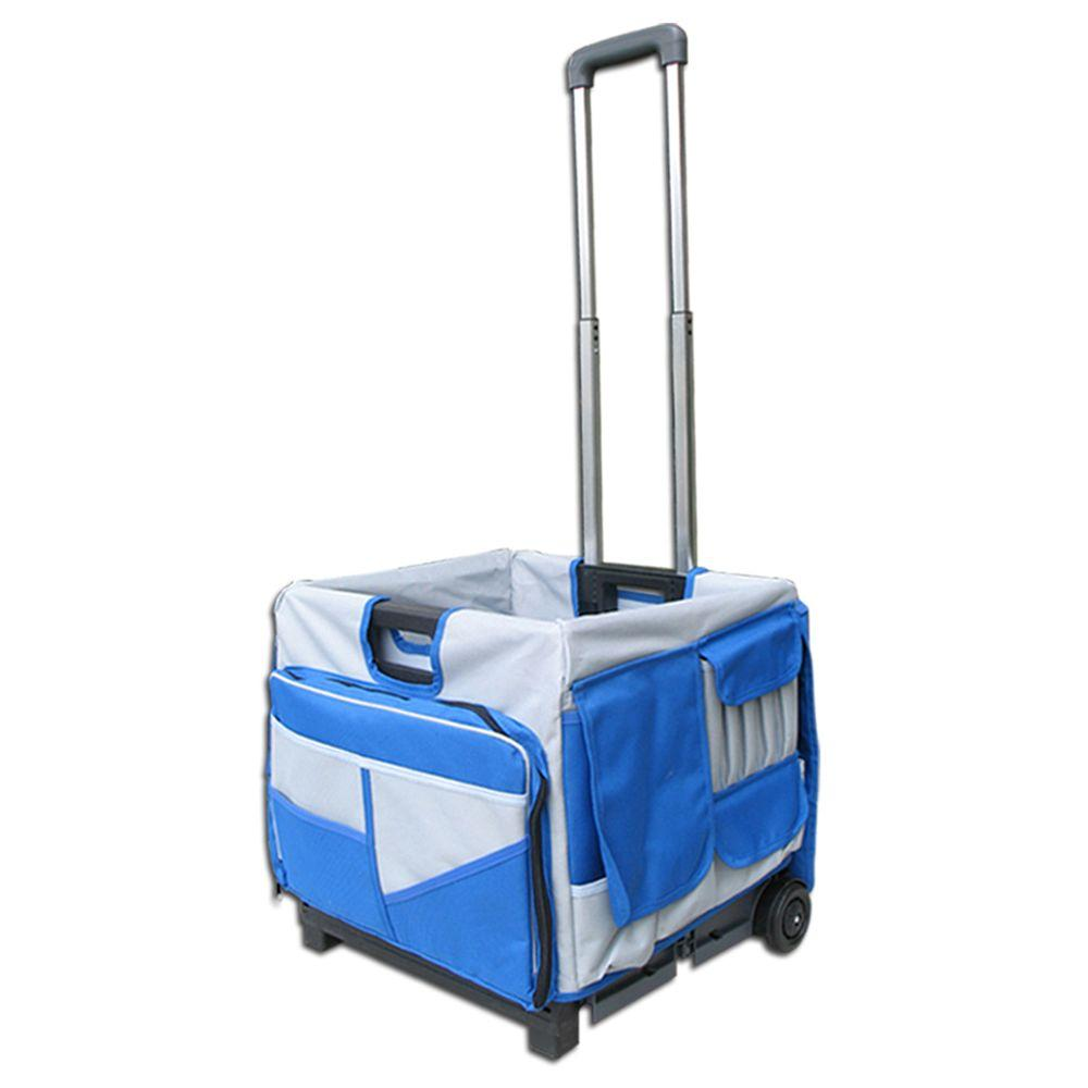 OLYMPIA Pack-N-Roll 17 in. 48-Pocket Foldable Cart