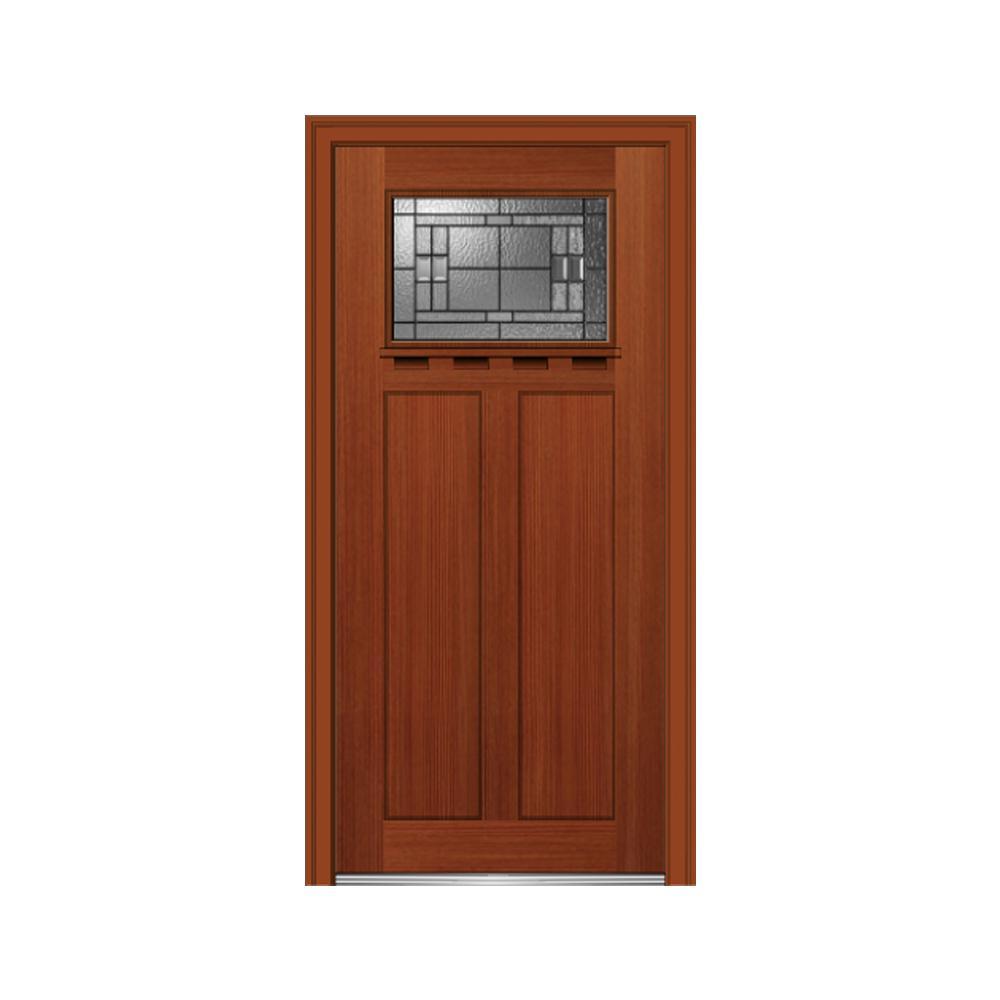 36 in. x 80 in. Roman Glass Right-Hand Craftsman 2-Panel  sc 1 st  The Home Depot & Single Door - Front Doors - Exterior Doors - The Home Depot pezcame.com