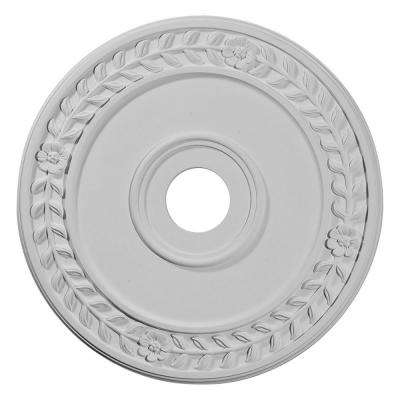 21-1/8 in. x 3-5/8 in. ID x 7/8 in. Wreath Urethane Ceiling Medallion (Fits Canopies upto 6 in.)