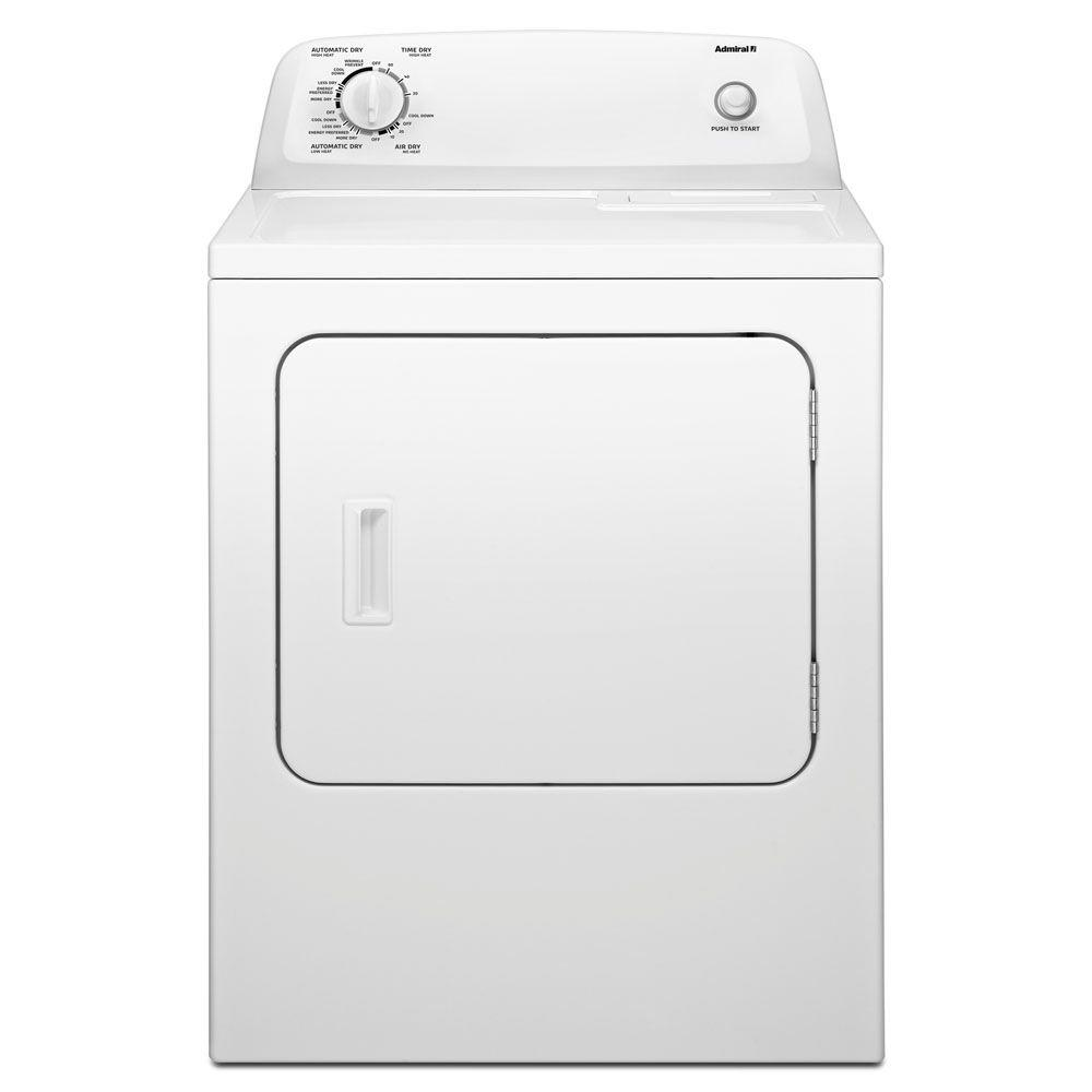 6.5 cu. ft. 240 Volt White Electric Vented Dryer with Automatic