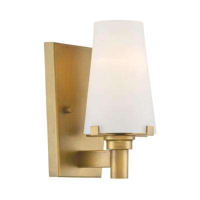 Hyde Park 1-Light Vintage Gold Interior Incandescent Bath Vanity Light