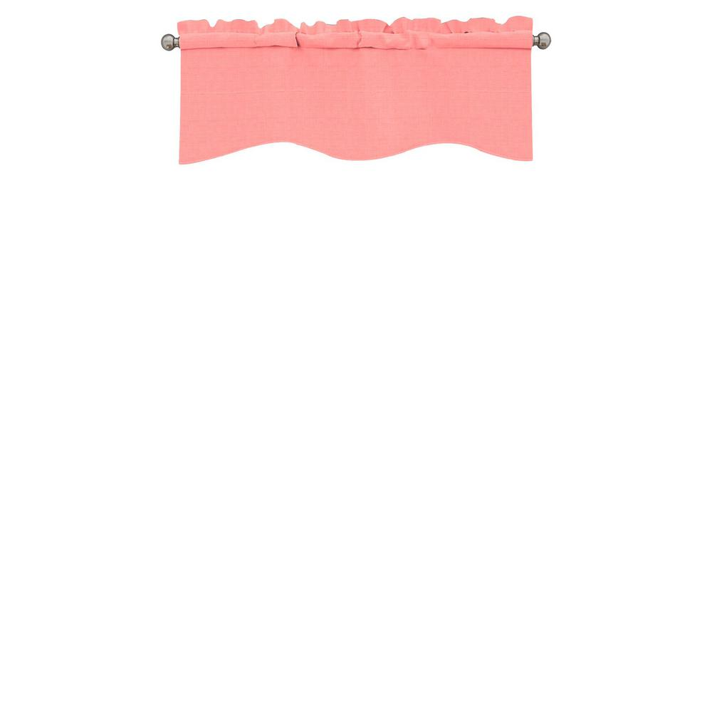 Eclipse Kendall Blackout Wave Window Valance in Coral - 42 in. W x 18 in. L