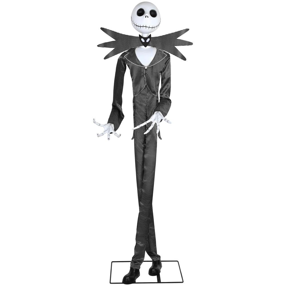 Halloween Jack Skellington Scary.Details About Halloween Animated Jack Skellington 77 Inch Haunted House Decor Scary Speaking