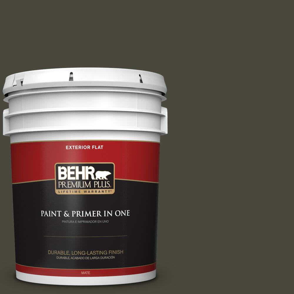 5 gal. #PPU24-01 Black Mocha Flat Exterior Paint