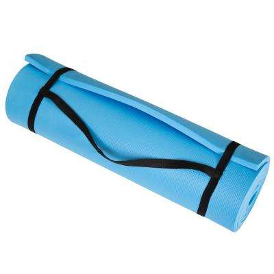 72 in. x 24 in. x .5 in. Extra Thick Foam Exercise Mat in Blue