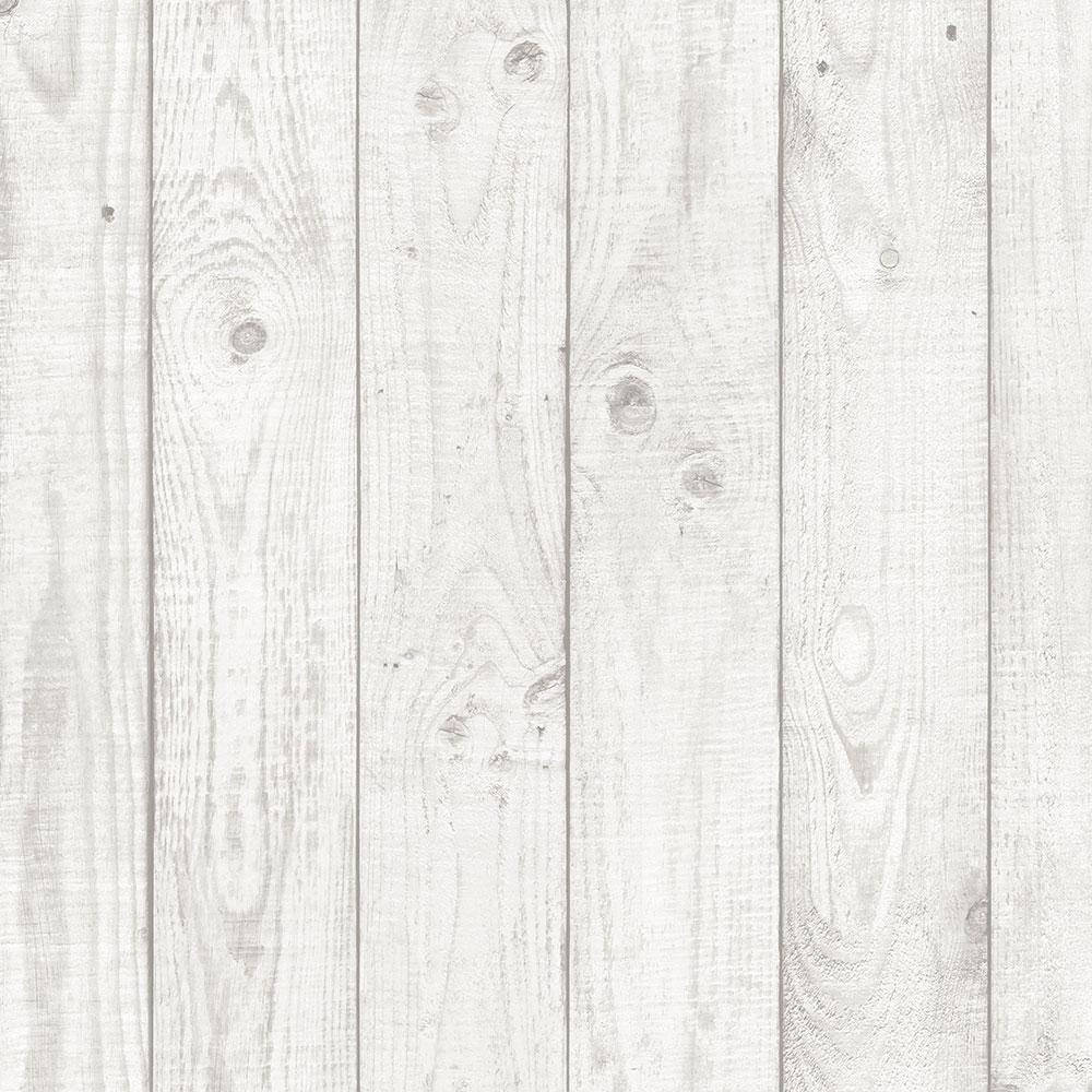 Barn Board Vinyl Roll Wallpaper (Covers 55 sq. ft.)