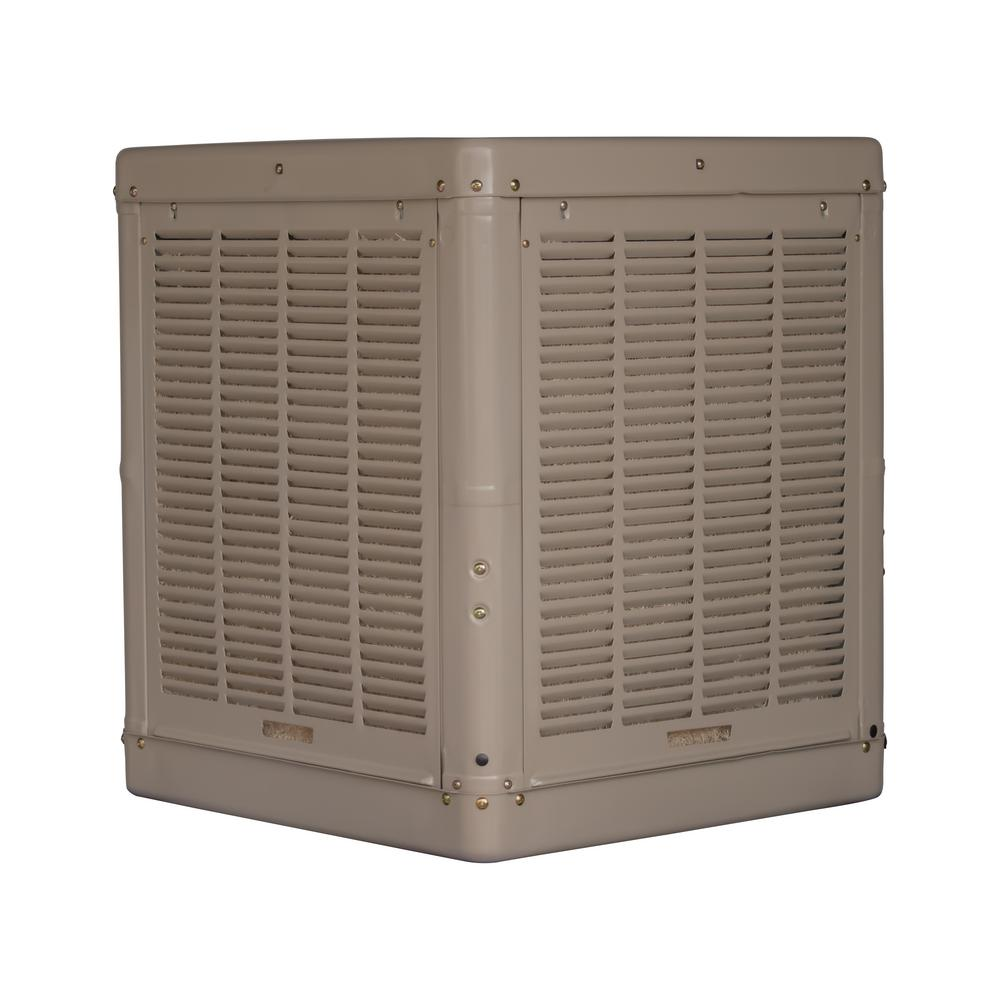 At Home Depot Evaporative Coolers : Champion cooler cfm down draft roof evaporative