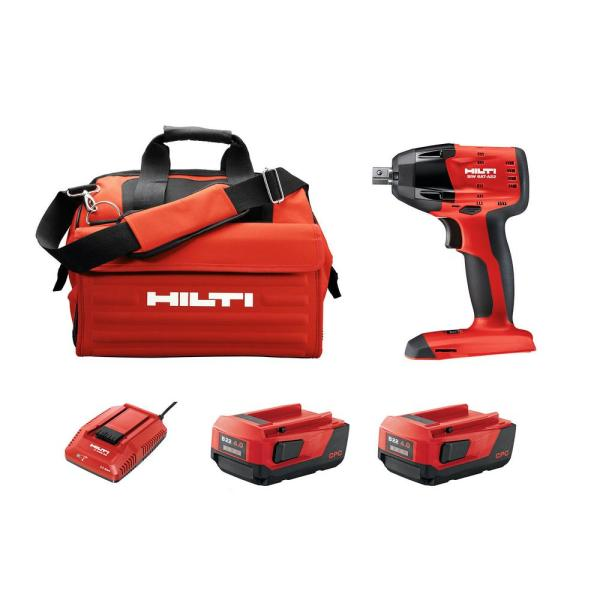 SIW 6-AT 22-Volt 1/2 in. Cordless Brushless Impact Wrench Kit with 4.0 Lithium-Ion Battery Pack Charger and Bag