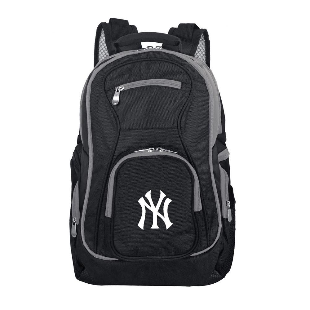 dc25004a63 Denco MLB New York Yankees 19 in. Black Trim Color Laptop Backpack ...