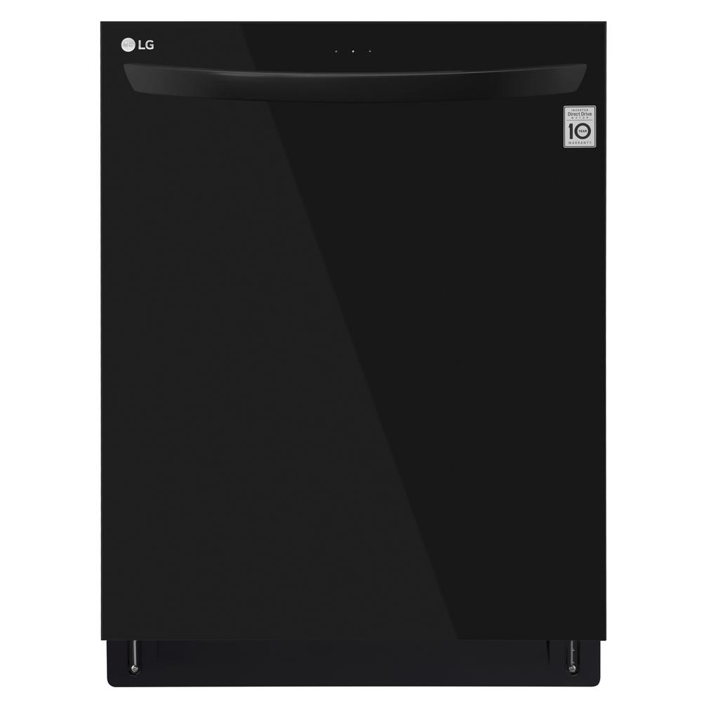 Top Control Tall Tub Dishwasher in Black with Stainless Steel Tub