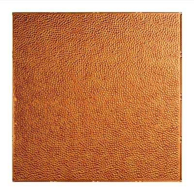 Hammered - 2 ft. x 2 ft. Lay-in Ceiling Tile in Antique Bronze