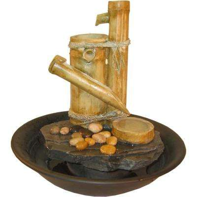 Bamboo Slide Large Eternity Tabletop Fountain