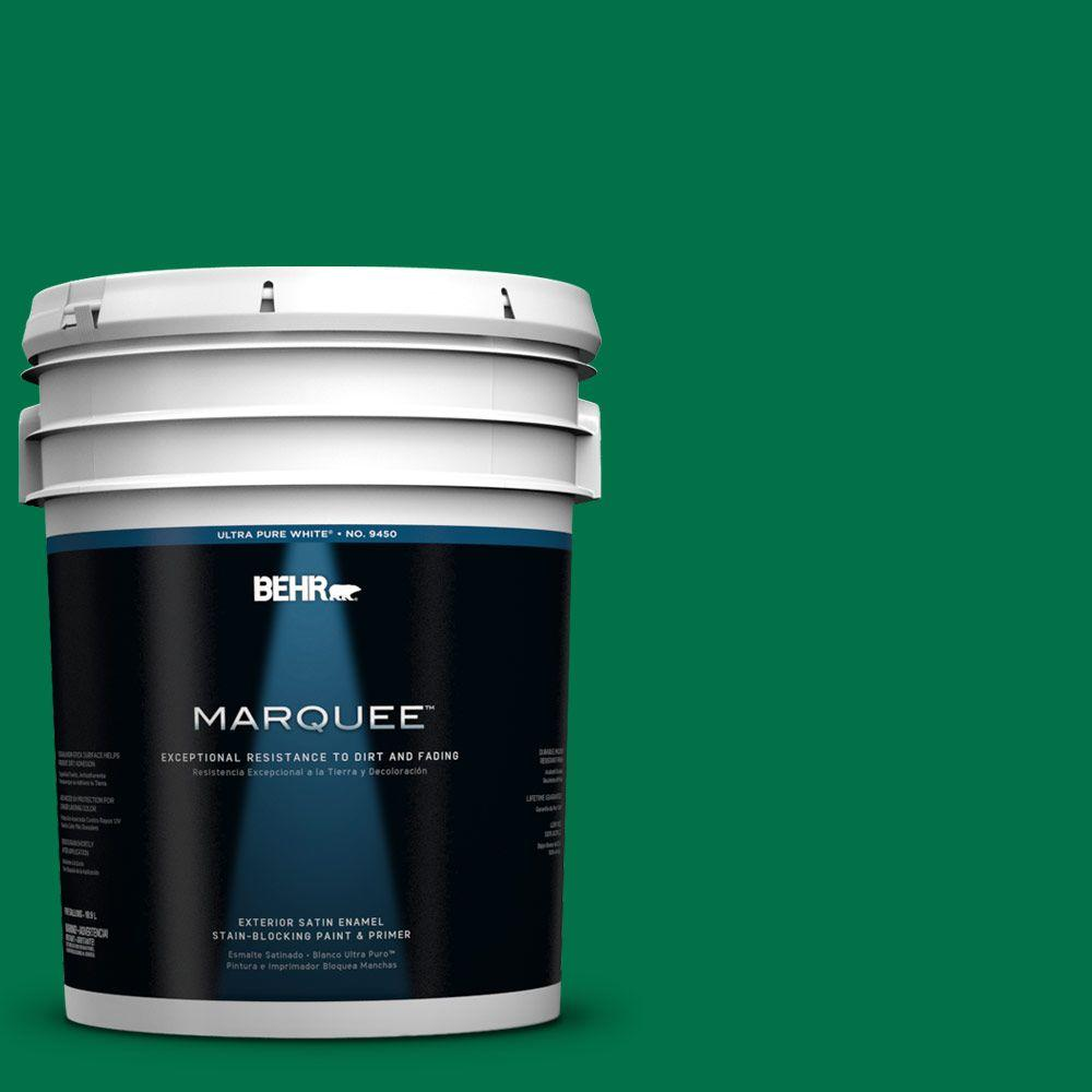 BEHR MARQUEE 5-gal. #470B-7 Climbing Ivy Satin Enamel Exterior Paint