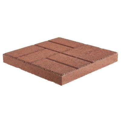 16 in. x 16 in. x 1.77 in. River Red Concrete Brickface Square Step Stone(84-Pieces/149 sq. ft./Pallet)
