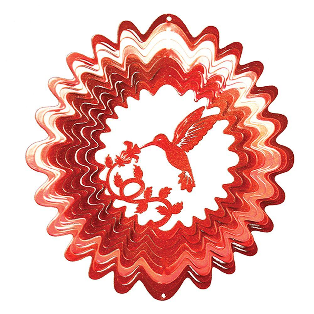 Iron Stop Small Red Hummingbird Wind Spinner-DISCONTINUED