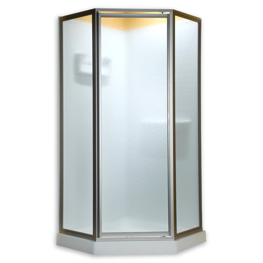 American Standard Euro 60 in. x 70 in. Semi-Frameless Sliding Shower Door in Oil-Rubbed Bronze with Clear Glass