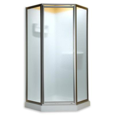 Euro 60 in. x 70 in. Semi-Frameless Sliding Shower Door in Oil-Rubbed Bronze with Clear Glass