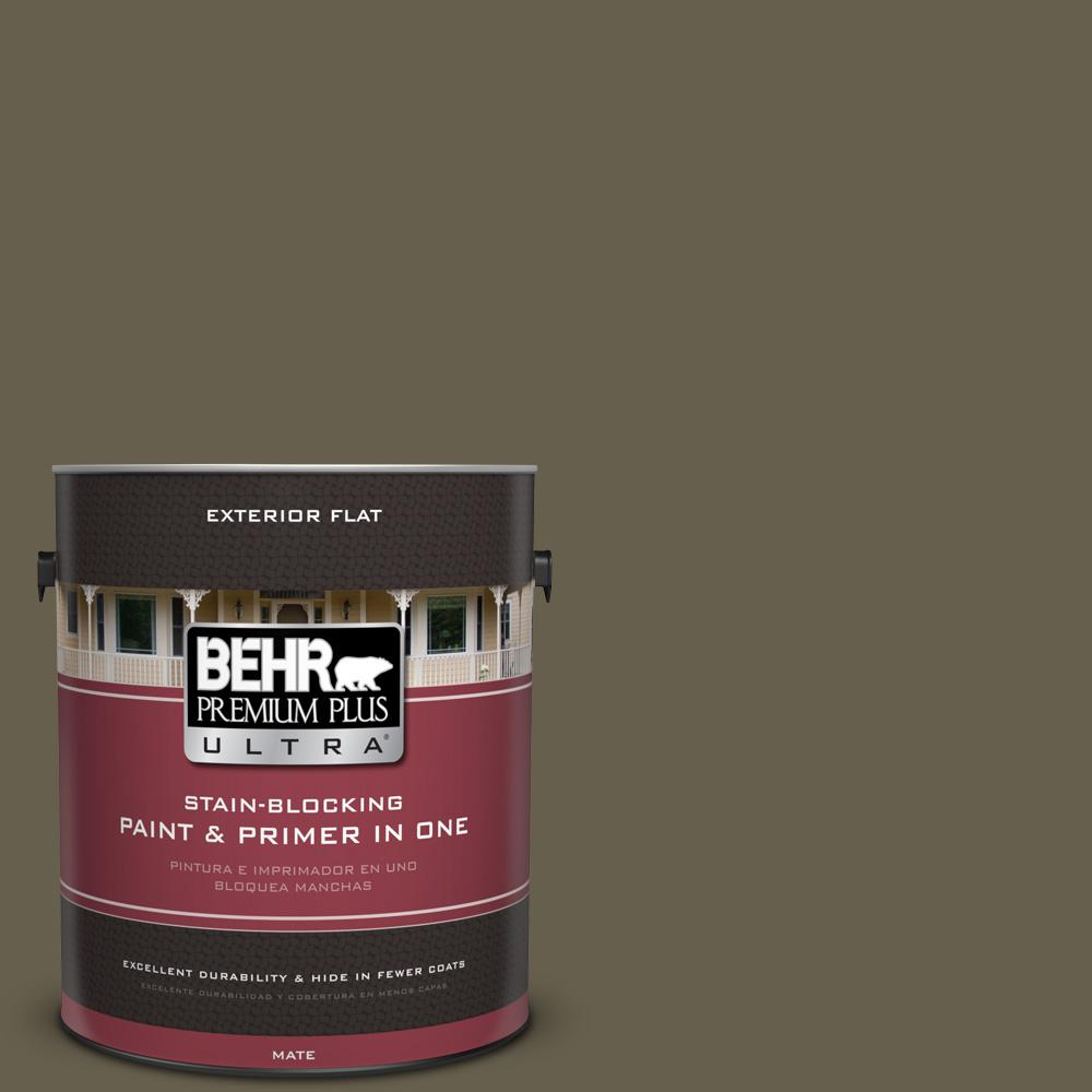 1 gal. #UL190-1 Ivy Topiary Flat Exterior Paint