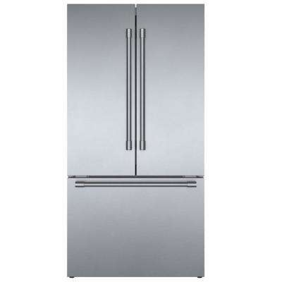800 Series 36 in. 21 cu. ft. French Door Refrigerator in Stainless Steel with 3 Doors and Pro Handles, Counter-Depth