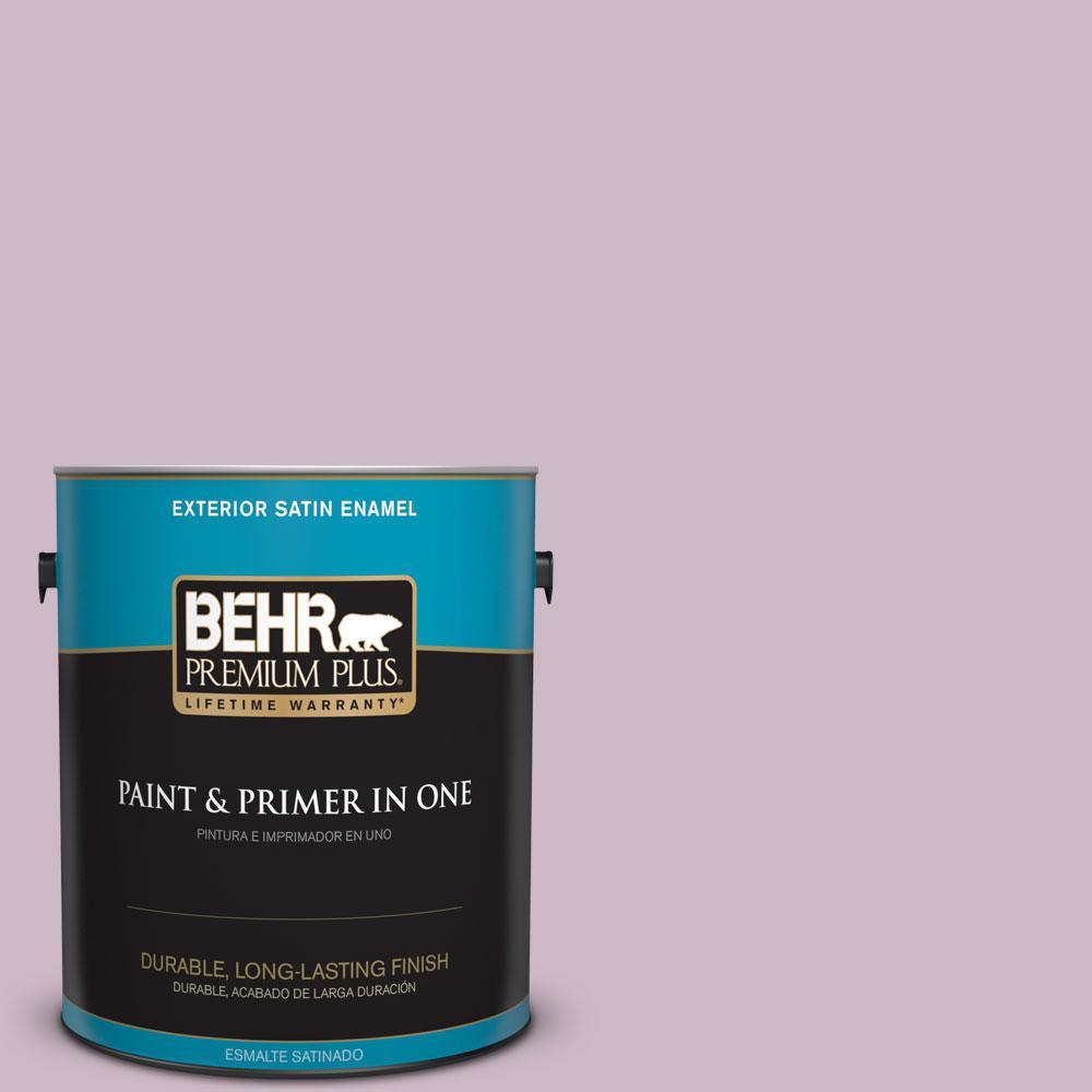 BEHR Premium Plus 1-gal. #S110-3 Queen's Violet Satin Enamel Exterior Paint