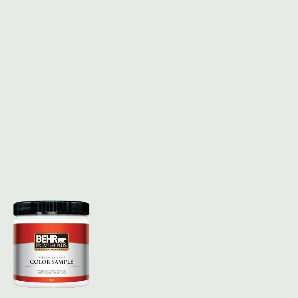 8 oz. #BL-W8 Frothy Surf Interior/Exterior Paint Sample