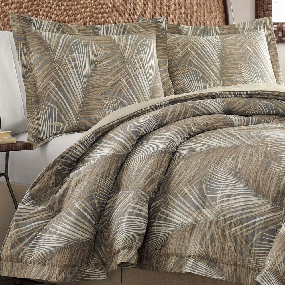 Raffia Palms Brown Standard Sham Channel island style in your bedroom with Tommy Bahama's Raffia Palm Pillow Sham, featuring a tropical raffia palm leaf print. The cool and breezy style of the sham is styled in a neutral color palette that brings a laidback vibe to your decor. The all-cotton sham coordinated back to the rest of the Raffia Palms Collection. Standard (20 in. x 26 in.). Color: Brown.