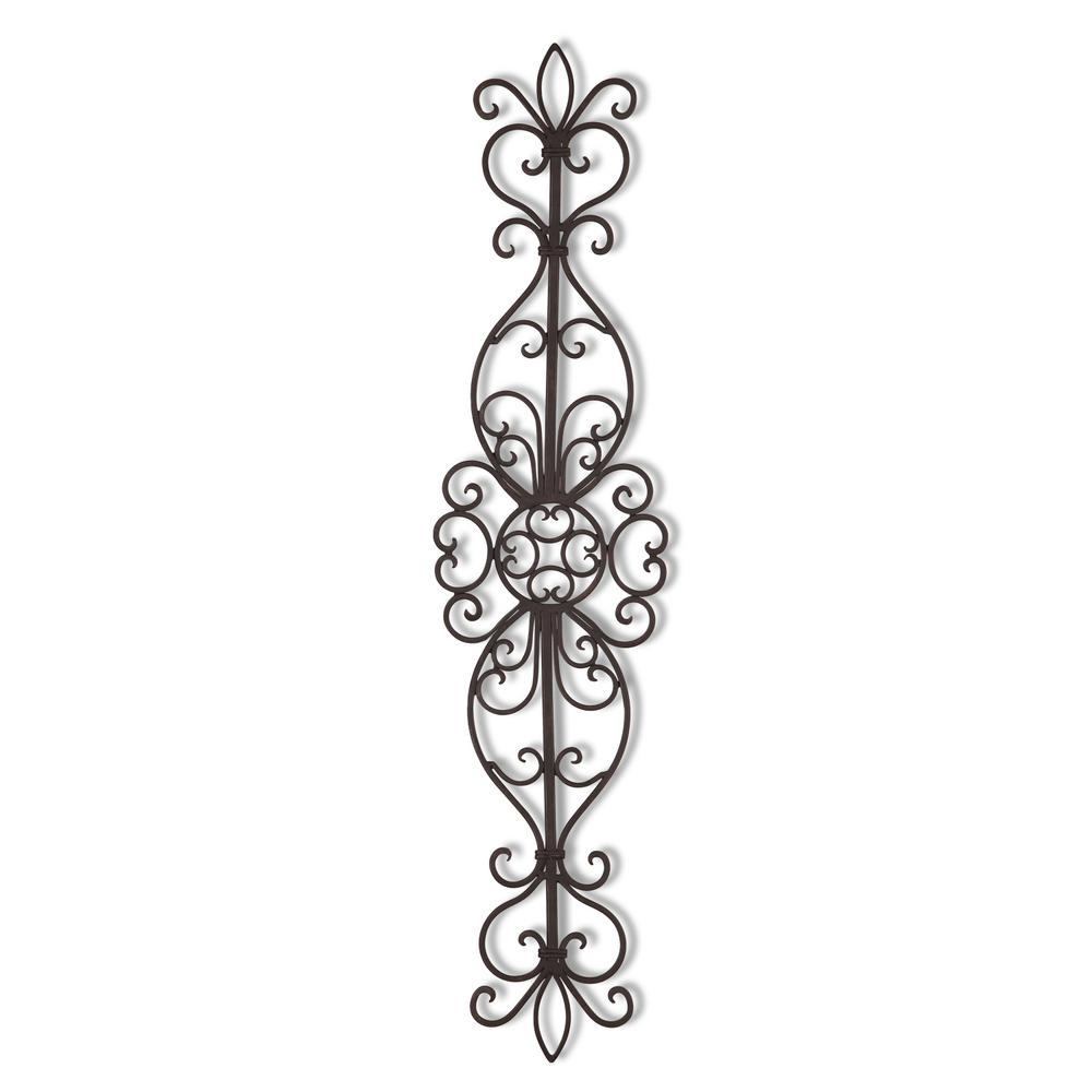 Vertical Scroll Metal Wall Decor