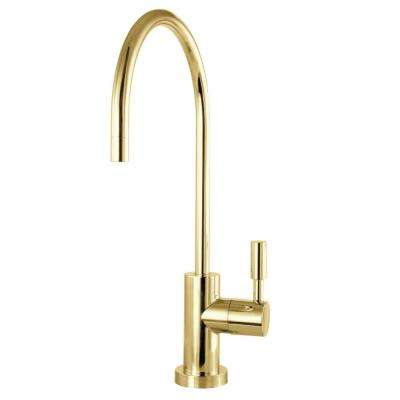 Replacement Drinking Water Single-Handle Beverage Faucet in Polished Brass for Filtration Systems