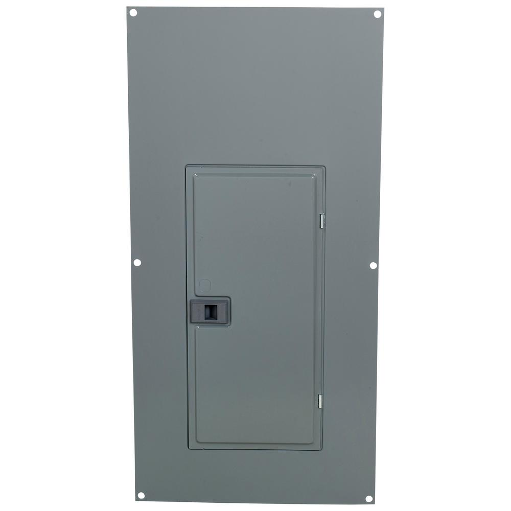 Main Lug Load Center QO 40-Space Surface Mount Cover with Spring-Mounted Trim