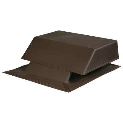 150 sq. in. NFA Plastic Slant-Back Roof Louver Static Vent in Brown (Sold in Carton of 2 only)