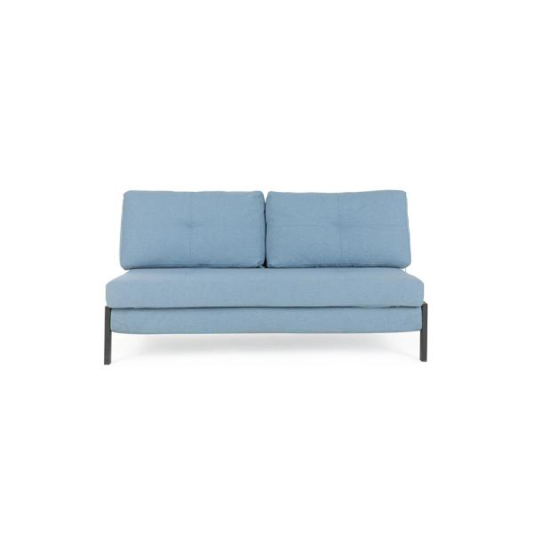 59.4 in. Blue Fabric 2-Seater Full Sleeper Sofa Bed with Removable Cushions
