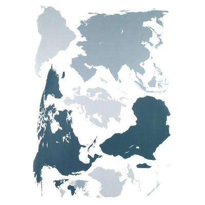 27 in. x 19 in. World Wall Decal