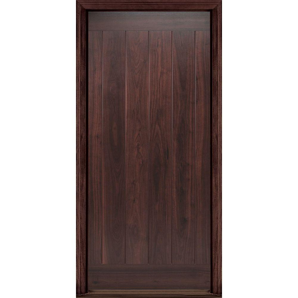 Masonite 36 in. x 80 in. AvantGuard Flagstaff Left Hand Inswing Finished Smooth Fiberglass Prehung Front Door No Brickmold