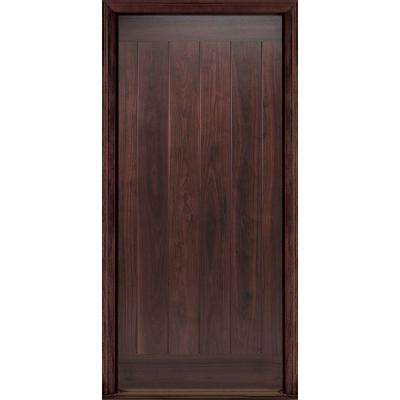 36 in. x 80 in. AvantGuard Flagstaff Left Hand Inswing Finished Smooth Fiberglass Prehung Front Door No Brickmold