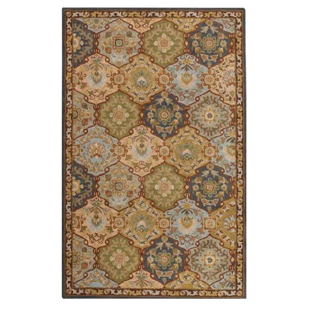 Home Decorators Collection Grandeur Blue Multi 9 Ft X 12 Ft Area Rug 0167360310 The Home Depot