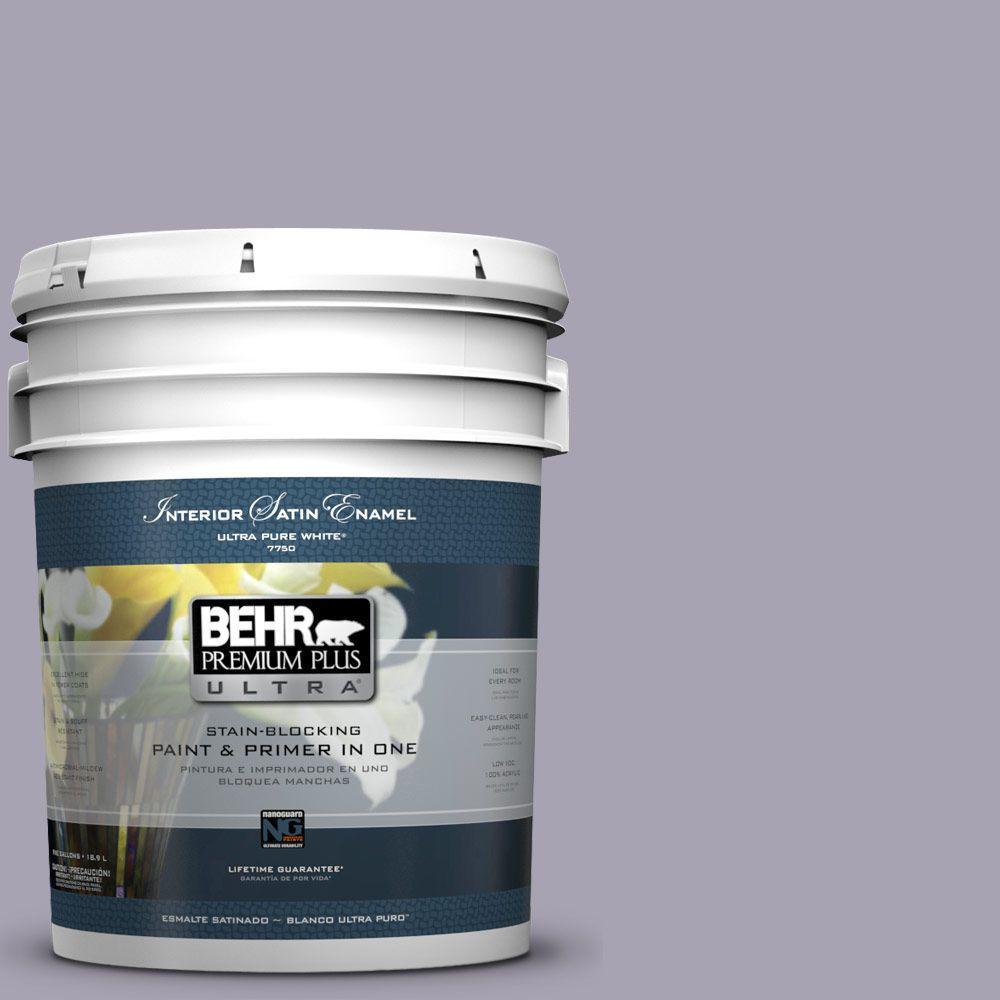BEHR Premium Plus Ultra 5-gal. #N560-3 Luxe Lilac Satin Enamel Interior Paint