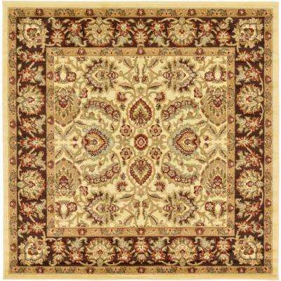 Voyage Cream 6 ft. x 6 ft. Square Area Rug